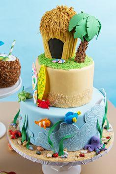 pinterest hawaiian cake ideas   70th Birthday Invitations Classic Party Ideas