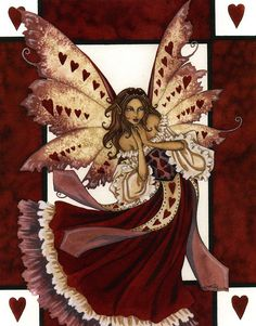 "Amy Brown ""Valentine Fairy"" w/out hearts for a tat Mabon, Betty Boop, Dragons, Amy Brown Fairies, Unicorn And Fairies, Fantasy Fairies, Fairy Pictures, Fantasy Pictures, Love Fairy"
