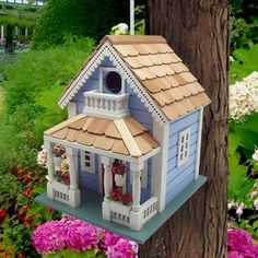 Home Bazaar Fledgling Series Orleans 10 in x 8 in x 9 in Birdhouse Bird Houses Painted, Bird Houses Diy, Fairy Houses, Garden Houses, Purple Martin House, Nantucket Cottage, Hanging Flower Pots, Flower Window, Bird House Kits