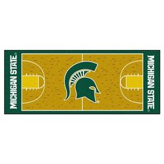 Michigan State Spartans NCAA Court Runner (29.5x72)