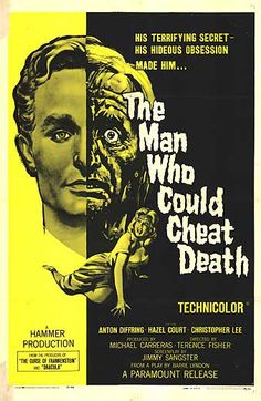 THE MAN WHO COULD CHEAT DEATH. classic use of the split-screen effect