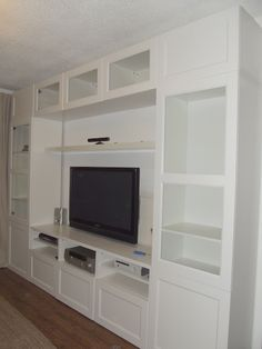 Home design ikea entertainment unit ikea entertainment unit instructions Ikea Tv Wall Unit, Tv Ikea, Ikea Expedit, Hemnes Bookcase, Bookcases, Design Ikea, Muebles Living, Ikea Living Room, Entertainment Room
