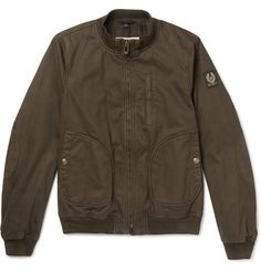 Pendine Waxed Stretch-Cotton Canvas Bomber Jacket | MR PORTER