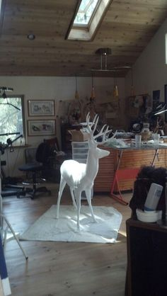 """Hey.. there's a deer in my studio""  -- Idyllwild Deer Sighting Public Art Project"
