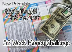 52 Week Money Challenge Starts Tonight! - You Game? #52weekmoneychallenge - StuckAtHomeMom.com