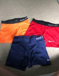 3 size small nike pro shorts pack. Nike Spandex Shorts, Nike Pro Shorts, Athletic Outfits, Nike Pros, Bb, Fitness, Swimwear, Fashion, Stuff Stuff