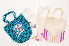 You can make these patterned totes in no time.