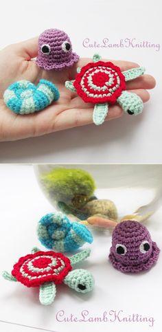 Crochet Sea animals pattern by Cutelambknitting on Etsy