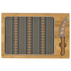 Vintage tribal aztec pattern cheese platter