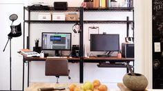 Conheça o home office de criativos do Airbnb, Spotify e outros.