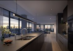 Apartamento Penthouse, Penthouse Apartment, Dream Apartment, Apartment Interior, Manhattan Apartment, London Apartment, Apartment Kitchen, Dream House Interior, Luxury Homes Dream Houses