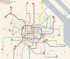 Shanghai transit map growth ✨ #TheCrazyCities  #crazyShanghai