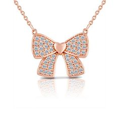 Rose Gold and Crystal Bow Pendant Necklace for Women, Teens or Girls in a Pretty Gift Box SmitCo LLC http://www.amazon.com/dp/B010MR8C8C/ref=cm_sw_r_pi_dp_PL.Ovb1BGMBQS