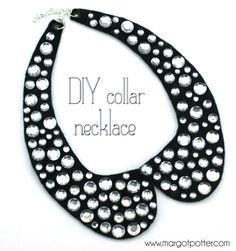 DIY Collar Necklace---now learn how to sew shell/mock smock tank thing