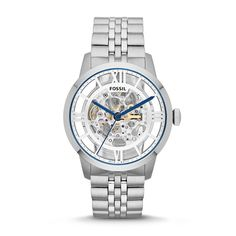 Transparency Cool! #Fossil Townsman Automatic Stainless Steel Watch