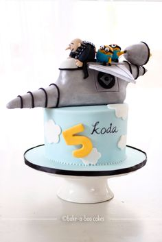 Despicable me jet cake