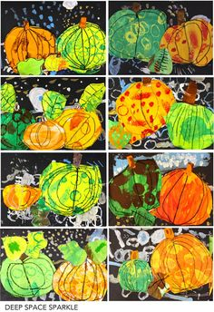 Kids practice their painting, drawing, cutting and pasting skills in this easy pumpkin art project art projects easy fall Halloween Art Projects, Fall Art Projects, Art 2nd Grade, Club D'art, Kindergarten Art Lessons, Art Projects For Kindergarteners, Classe D'art, Art Du Collage, Pumpkin Art