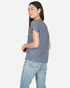 887910c6075 The Linen Box-Cut Tee - Everlane Cut Tees
