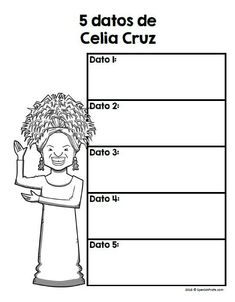 Hispanic Heritage Month Activities and Ideas-- This Spanish resource includes blank graphic organizers and writing sheets for famous Hispanic and Latino figures. Would be great for a research project, center, writers workshop or cultural activity. #CeliaC