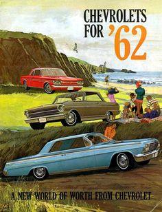 """prova275: """"Full line brochure cover… 1962 Chevrolet """""""