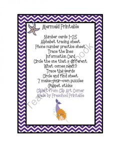 Mermaid+Printable+from+Fun+Printables+for+Preschoolers+on+TeachersNotebook.com+-++(19+pages)+