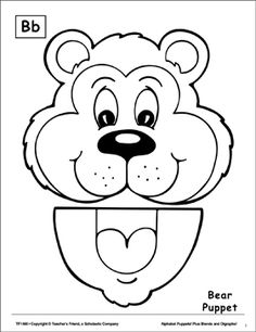 The Letter B: Bear Puppet - The Letter B: Bear Puppet by Scholastic Informations About The Letter B: Bear Puppet Pin You can ea - Letter B Crafts, Alphabet Crafts, Paper Bag Crafts, Paper Bags, Puppet Patterns, Doll Patterns, Bear Crafts, Animal Crafts, Paper Bag Puppets