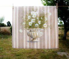 Fleurs de cosmos peinture sur toile à matelas par FrenchDecoChic