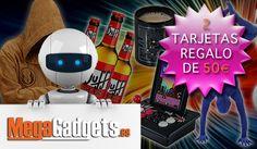 Sorteamos dos tarjetas regalo de 50€ para comprar en megagadgets.es #SorteosActivos #Sorteamus Sorteo por @MegaGadgetsES