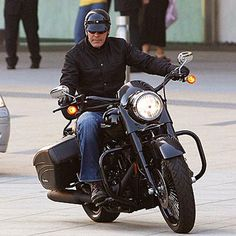 George Clooney and his bike