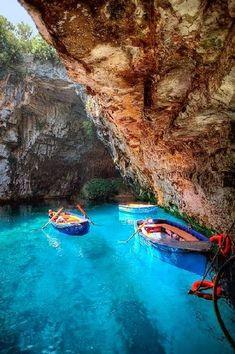 Grecia: Melissani Cave, Kefalonia - Greece -