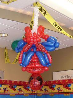 Pin by Magalie Leger on Balloon decor Pinterest Spiderman