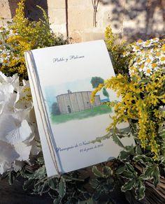 Misal. Boda P&P. Acuarela pintada a mano. Mallorca. Bodas. Boda. Wedding. Detalles hechos a mano.