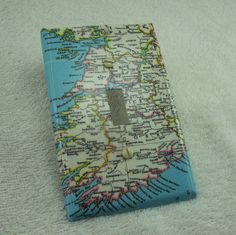 Map covered light switch plate, Southwestern Ireland