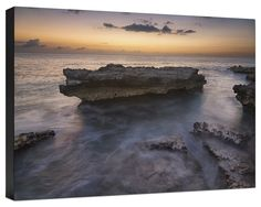 Smith Barcadere Grand Cayman Sunset Painting Print on Wrapped Canvas