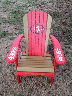 Hand Painted San Francisco 49ers Folding Adirondack Chair Football Tailgating