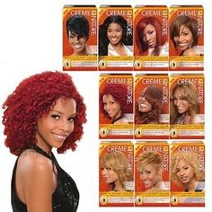 Creme Of Nature Hair Dye Color Chart Google Search