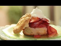 Strawberry Shortcake w/ Homemade Biscuits Recipe (How to Make It) || KIN EATS