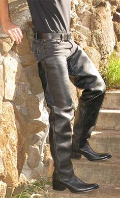 Chic Made to order tall round toe cowboy boots made to your leg and foot size . Mens Boots from top store Mens Heeled Boots, Mens High Boots, Mens Sneaker Boots, Thigh High Boots, Tall Leather Boots, Tall Boots, Leather Men, Black Boots, Moda Masculina