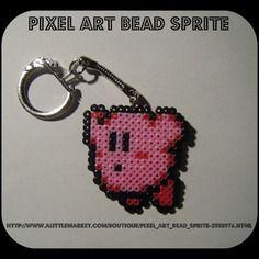 Porte clés kirby - game boy - bead sprite