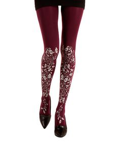 Love this Purple Artistic Forest Tights by Zohara on #zulily! #zulilyfinds