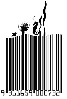 Cool looking barcode for Promised Land wines new packaging, pretty, but will it sell more? #branding #packaging #winelabels