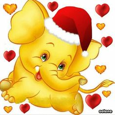 Smiley Emoji, Smiley Faces, Decoupage, Christmas Graphics, Indian Elephant, Gif Pictures, Cute Baby Animals, Wild Animals, Christmas Printables