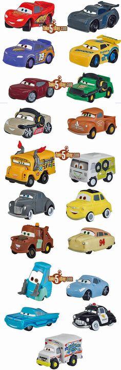Disney Cars Diecast Complete List Disney Pixar CARS Disney - Lightning mcqueen custom vinyl decals for cardisney pixar cars a walk down cars advertising memory lane take