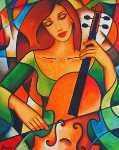 Art, Music and Love. Graffiti Kunst, Pop Art, Ouvrages D'art, Arte Popular, Art Music, Violin Music, Cello, Indian Art, African Art
