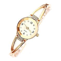 Ladies rose gold plated alloy bracelet round dial #analog wrist #watch #decorous,  View more on the LINK: 	http://www.zeppy.io/product/gb/2/172354644267/