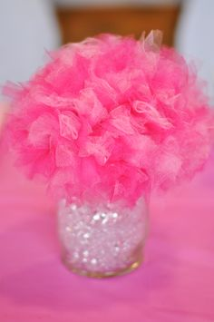 Barbie Centerpieces, Tulle Centerpiece, Barbie Birthday, Birthday Bash, Shower Ideas, To My Daughter, Baby Shower, Decorations, Party