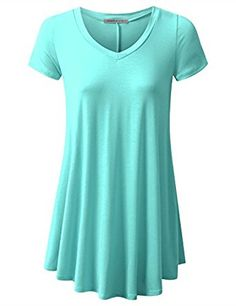 $15.74 URBANCLEO Womens Basic eLong Tunic Top Mini T-shirt Dress.Color: Light Blue.Tunic Top Perfect for Casual,Normal,Everyday,Party.This is a beautiful,cute and amazing top available at very cheap prices.Will be available in various colors and sizes.This can be worn during winters.fall,summer,springURBANCLEO Womens Basic eLong Tunic Top Mini T-shirt Dress (PLUS Size Available) at Amazon Women's Clothing store:
