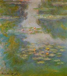 Claude Monet, 1908, Water Lilies, 1908 on ArtStack #claude-monet-1908 #art