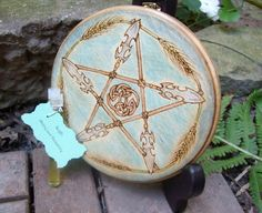 Made to Order Lughs Spear Pentacle Lughnasadh Altar Tile by TheWhimsicalPixie11 on Etsy https://www.etsy.com/listing/200315294/made-to-order-lughs-spear-pentacle