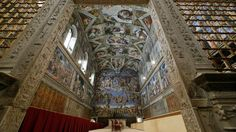 The Sistine Chapel is pictured at the Vatican.